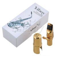 Copper Gold-plated 7# bE Alto Saxophone Mouthpiece Cap Ligature