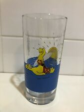 Vintage Nutella Collectables Glass -The Simpsons / Homer Simpson surfing 1990's