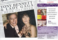 Lady Gaga autographed signed Cheek to Cheek CD booklet w/ JSA COA signing photo
