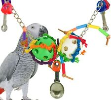 1887 FORAGING CHAIN BIRD TOY parrot cage toys cages african grey amazon conure