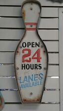 Bowling Pin Light Up wall Sign retro/rustic look