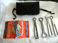 Vintage 1960's MAFAC  Bicycle Tool Kit small black vinyl pouch bike tools