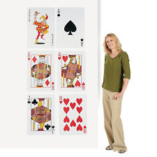 Vegas Casino Party Set of 6 Cardboard Playing Card Cutouts Wall Decorations