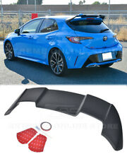JDM Rear Roof Window Wing Spoiler For 19-Up Toyota Corolla Hatchback ABS Plastic