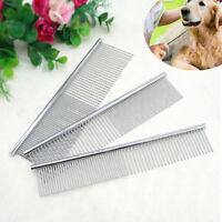 Stainless Steel Pet Cat Dog Comb Hair Grooming Brush Shedding Flea Fur Rake Tool