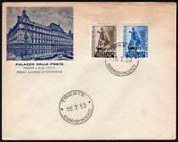 1196 - Trieste, FDC - Esposizione agricoltura a Roma, 16/07/1953