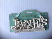 Personalised Kitchen Hanger sign Jane's Kitchen New on card ideal gift