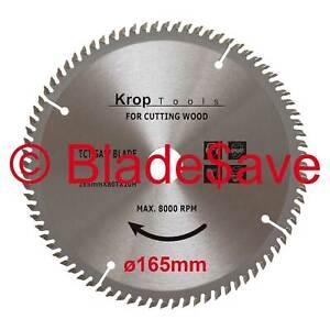 Milwaukee Circular Saw Blade Fine Cut TCT 165mm x 16/20mm x 80T by KROP