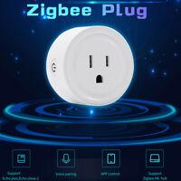 Zigbee Smart Socket US Plug Switch For Amazon Alexa/Smart Things Hub App Control