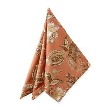 """Waterford Williamsburg Copper Fabric Napkins Set of 4 New 21x21"""""""