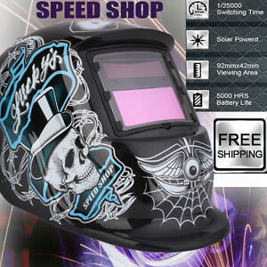 Head-Mounted Auto Darkening Welding Helmet Mask Welder Tig Mig Grinding Function