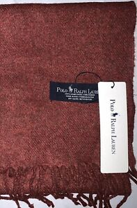 POLO RALPH LAUREN 100% LAMBSWOOL CHECK SCARF. SCARVES & SHAWLS