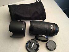 Nikon 70-300mm f/4.5-5.6G ED IF AF-S VR Nikkor Zoom Lens + filter