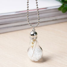 """Glass Flower Necklace with Silver Tone Chain-FREE GIFT WRAP - 59.2cm (23 1/4"""")"""