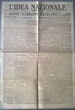 L'IDEA NAZIONALE 26 MAGGIO 1918 -SOLENNE CELEBRAZIONE DELL'ALLEANZA ITALIANA 588