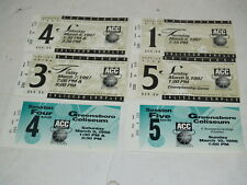 1996 & 1997 ACC Basketball Tournament Finals Ticket Stubs-Lot of 6