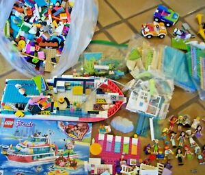 9.5 LBS LOT LEGO FRIENDS 41381 ANIMAL RESCUE 23 MINIFIGS PARTS ACCESSORIES AS IS