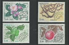 Monaco Préo** YT 78/81   arbre flore fruits  pomme pommier