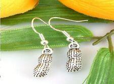 HOT Wholesale Lady 2 Pair/lot Charm Fashion Jewelry Silver Peanut Stud Earrings