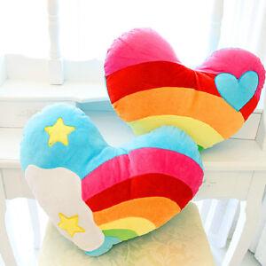 Rainbow Love Cloud Heart Shaped Plush Toy Soft Cushion/Cushion Birthday Gift