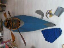 Faltboot LFB Stern MTW Kolibri 3 mit 2 Paar Paddel + Steuerung + Packtasche