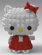 LEGO MOC hello kitty CUSTOM Model Instructions only (~160pcs). See my legos!