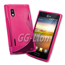 TPU Silicone Case Skin in hot pink for LG Optimus L5 / E610 / E612 / LG E610