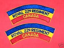 ROYAL 22ND REGIMENT - CANADA Cloth Shoulder Flashes