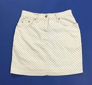 Cappopera gonna jeans vita alta high waist hot mom scotone usata bianca T1851