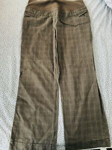 Next ladies beige check MATERNITY trousers size 16. Hardly worn