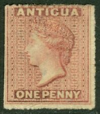EDW1949SELL : ANTIGUA 1863 Scott #2 Mint No Gum. Catalog $140.00.