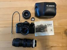 Canon F-1 Camera With 3 Lenses, 9 Assorted Filters + Camera Bag & User Manuel