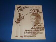 B.B. KING 1980 TOUR CONCERT HANDBILL FLYER,DALLAS - FT.WORTH,TEX.