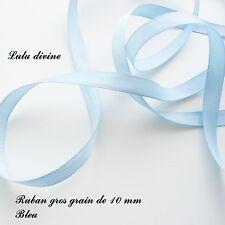 2 mètres de ruban gros grain largeur de 10 mm Couleur : Bleu