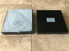 "Prada - Square Black Empty Gift / Storage Box w/ Auth. Tissue (10"" X 10"" X 2.5"")"