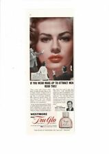 VINTAGE 1956 WESTMORE TRU-GLO FOUNDATION MAKE-UP ANITA EKBERG AD PRINT #B449