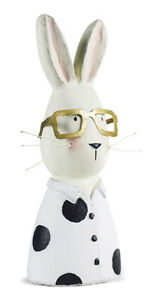 Hasenbüste Hasenkopf mit Brille 29cm Shabby Look Osterhase Baden