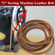 "72"" 183cm Leather Belt Antique Treadle Parts + Hook For Singer Sewing Machine"
