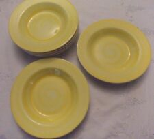 cereal bowl dessert yellow hand decorated swirl 22 cm 6 available made in Italy
