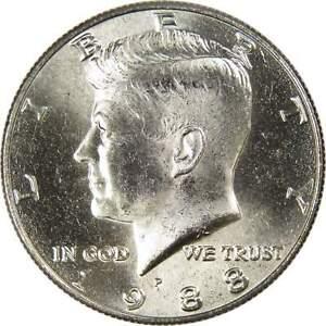 BU ROLL OF 1988-D HALF DOLLARS
