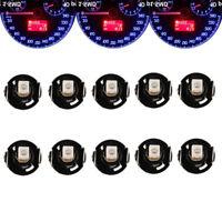 10pcs Blue T4/T4.2 Neo Wedge LED Bulb Cluster Instrument Dash Climate Base Light