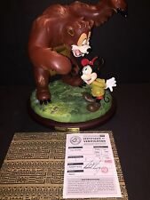 Mickey Mouse And the Bear Figure #26 of 1500 Signed 1999 Disney Convention