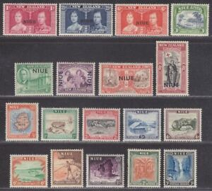 Niue 1937-50 King George VI Selection to 3sh x2 Mint