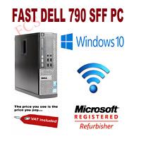 ULTRA FAST Quad Core Dell Optiplex PC Tower WIFI 8GB RAM 120GB SSD Windows 10