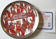 "1992 Chicago Bulls NBA World Champs 8 1/2"" LE Plate w/COA Sports Impressions New"