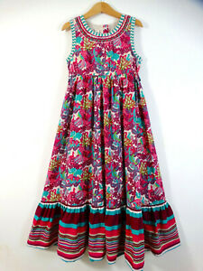 Monsoon Girls Purple Teal Blue Maxi Dress Age 5-6 Size 6