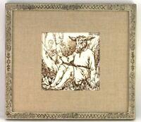 Antique Wedgwood Josiah & Sons Bottom Midsummer Shakespeare Tile 8x8 Framed