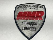 Mobile Medical Response MMR Advanced Life Support EMT Emergency EMS Patch Q