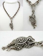 Barry Kieselstein-Cord Sterling Toad Frog Pendant Necklace 1996, Heavy 130.1g