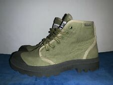 BLOW OUT SALE @ PALLADIUM Army Green Combat Boots Shoes Men Sz 3.5 Womens 5 ❤️b7